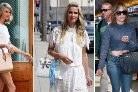 Babies, Glitter, & Birkins Dominate This Celeb Handbag Round-up