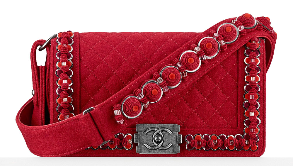 Chanel-Embroidered-Felt-Boy-Bag-Red