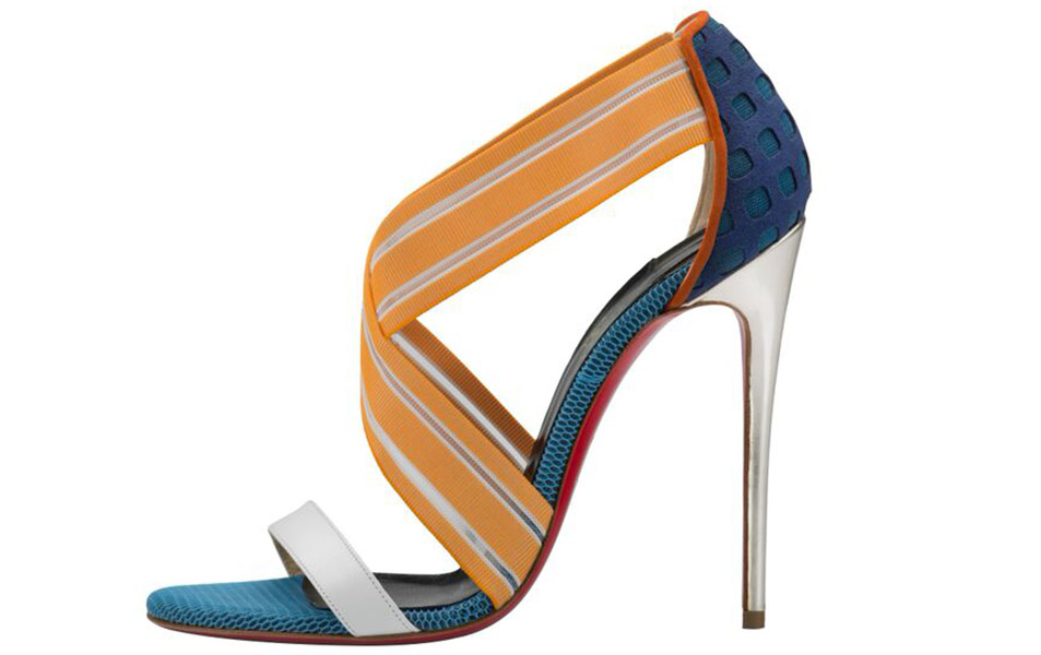 Christian Louboutin Pre-Fall 2015 Elastagram 120mm Tech Square Multi