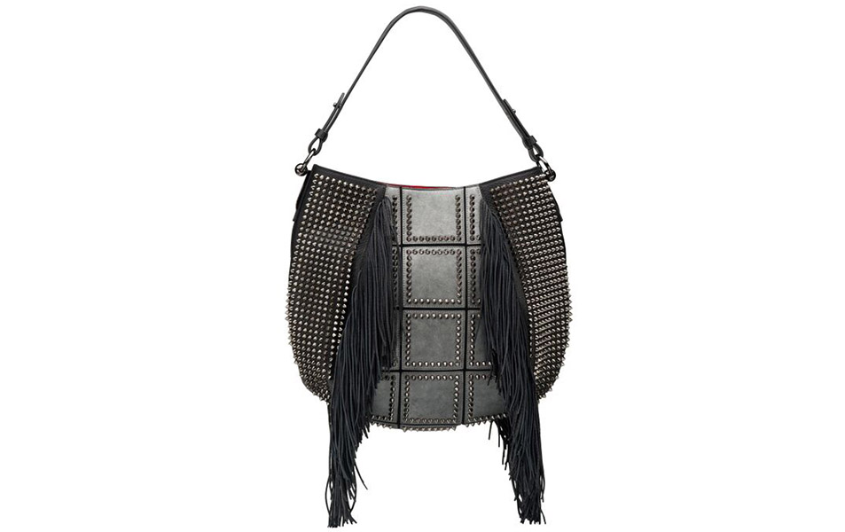 Christian Louboutin Pre-Fall 2015 Lucky L Hobo Fringes