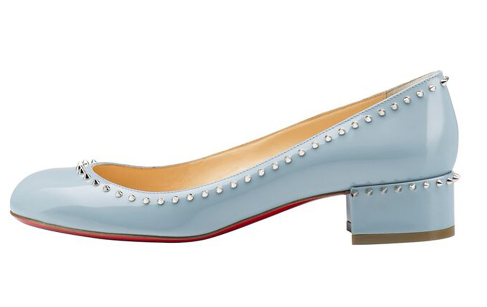 Christian Louboutin Pre-Fall 2015 Treliliane 30mm Patent Horizon Silver
