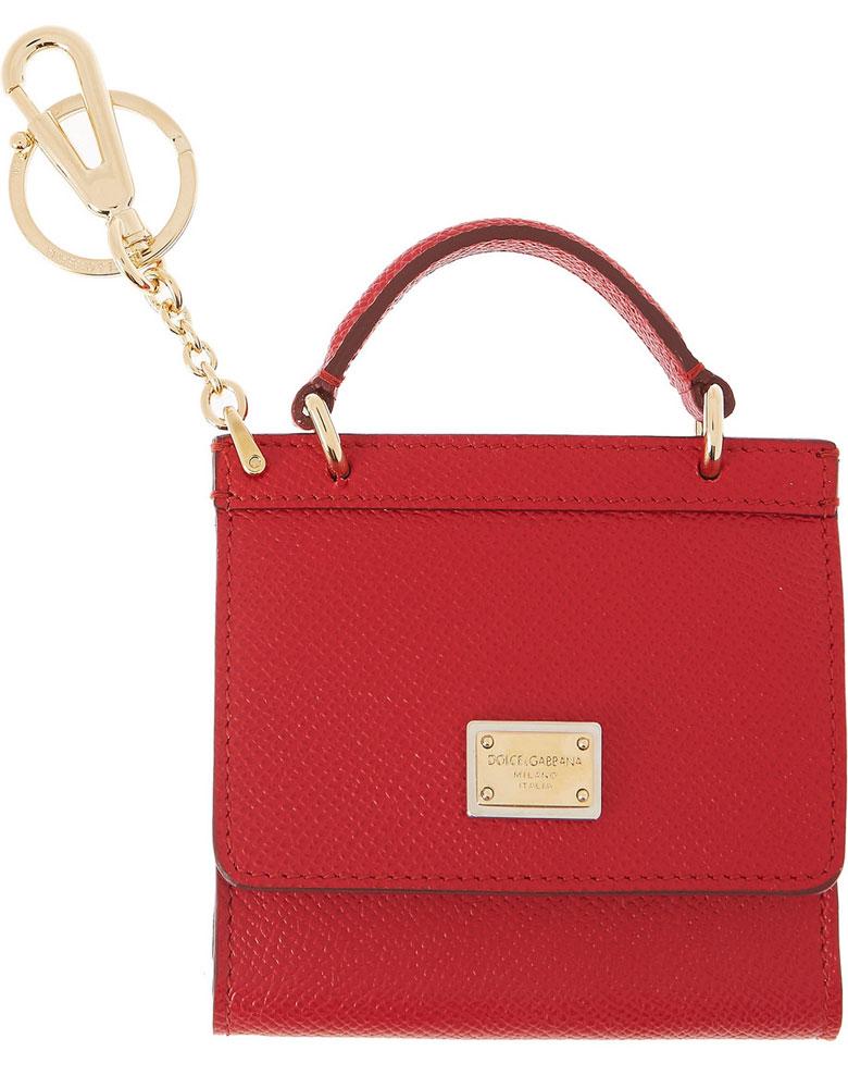 Dolce-&-Gabbana-Handbag-Keychain-Red