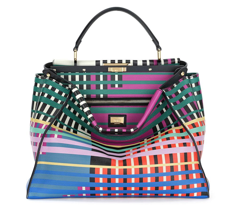 Fendi-Printed-Peekaboo-Bag