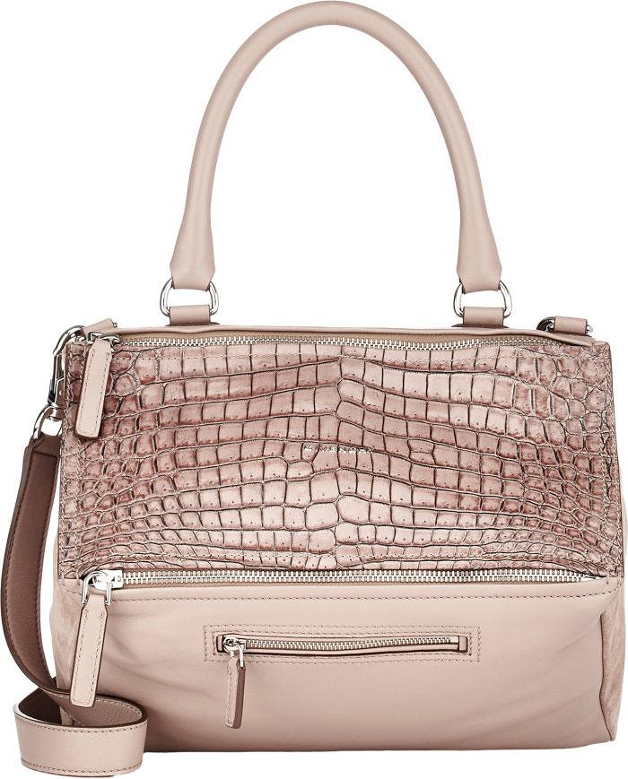 Givenchy-Croc-Embossed-Pandora-Bag