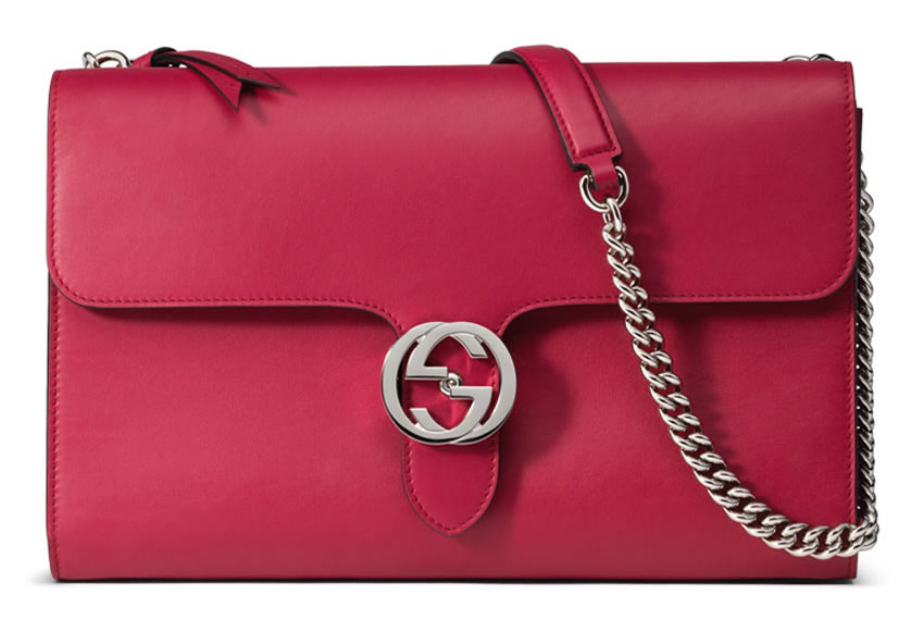 Gucci Interlocking Shoulder Bag Pink