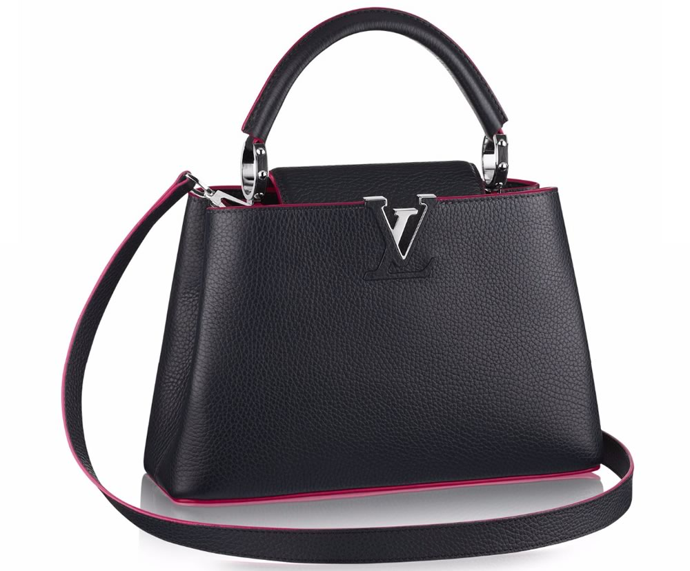 Louis Vuitton Capucines BB black and pink