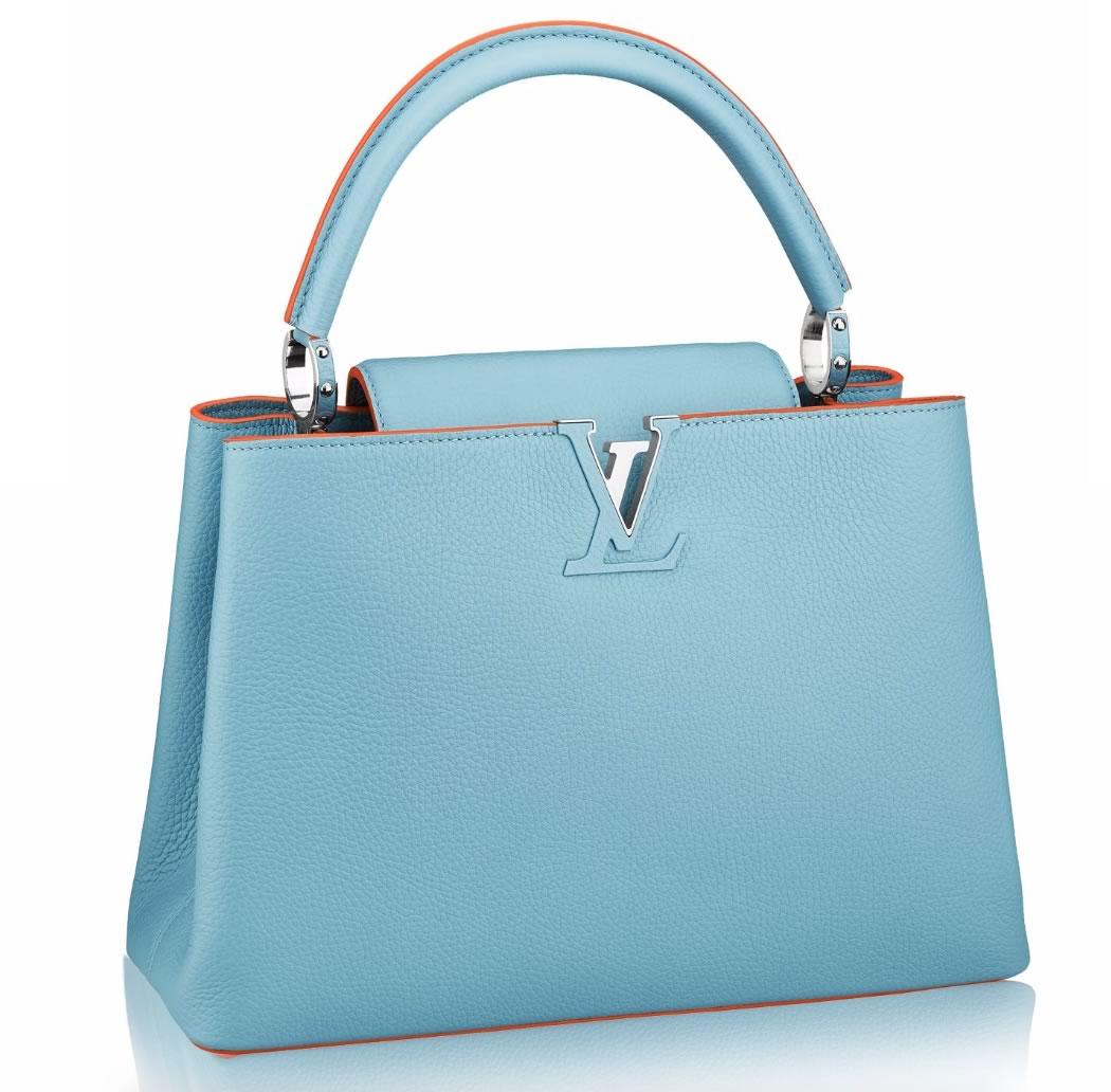 Louis Vuitton Capucines MM Blue and Orange