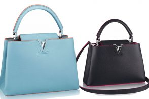 Louis Vuitton Capucines with Contrasting Details