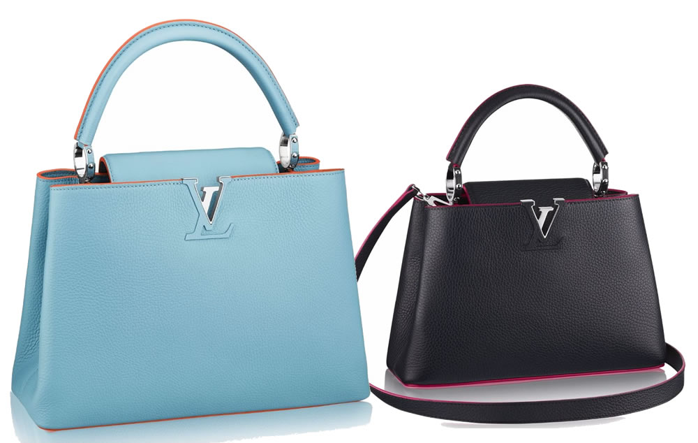 b75e9a230499 Louis Vuitton Capucines with Contrasting Details - PurseBlog