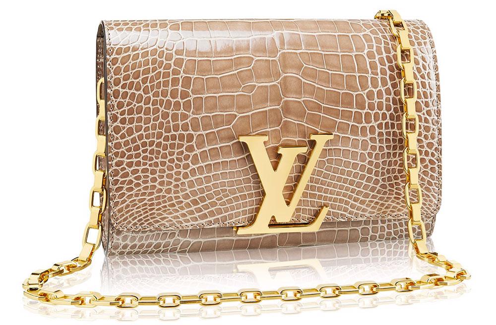 Louis-Vuitton-Chain-Louise-Crocodile-Bag