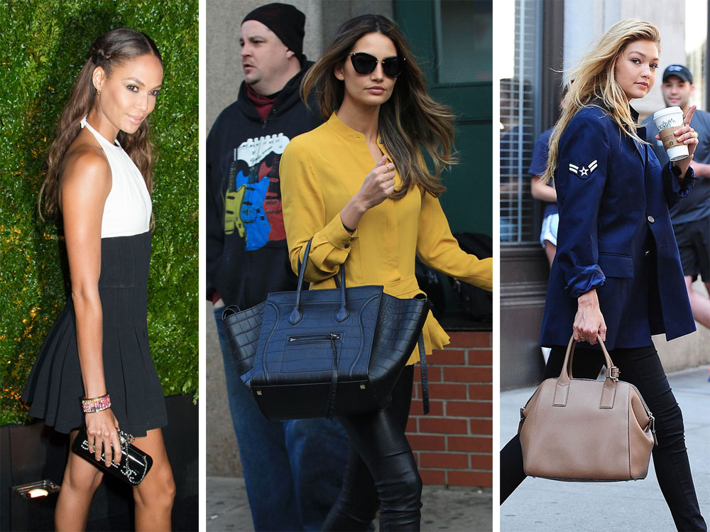 91a47291d8 45 Photos of Gorgeous Supermodels and Their Fabulous Handbags ...