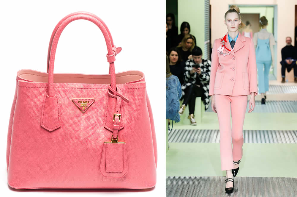 0c62db0cd5bb0e The Stunning Colors of the Prada Double Bag in Saffiano Cuir for ...