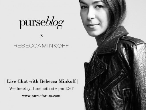 Live Chat with Rebecca Minkoff #AskMeAnything