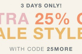 Take 25% Off Sale Prices at Shopbop Now!