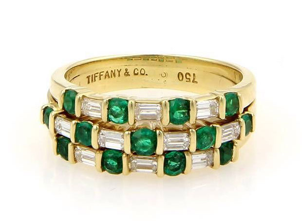 Tiffany-and-Co-Diamond-and-Emerald-Ring