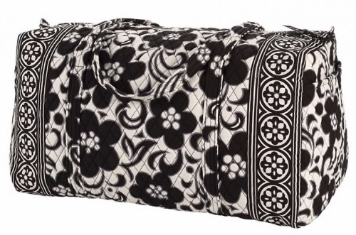 Vera Bradley Large Duffel Travel Bag in Night and Day