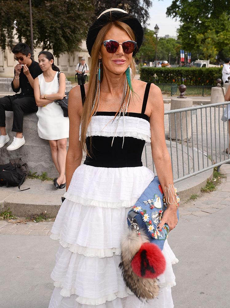 Anna-Dello-Russo-Chanel-Denim-Flap-bag