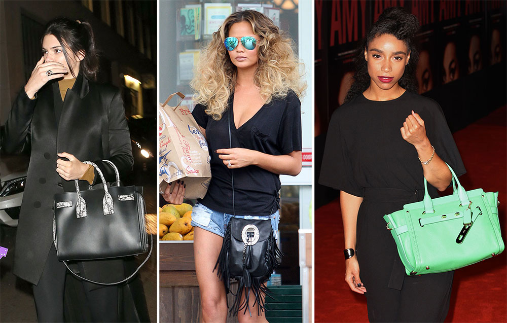 Celebs Carry Choice Bags From Saint Laurent Roger Vivier Coach More