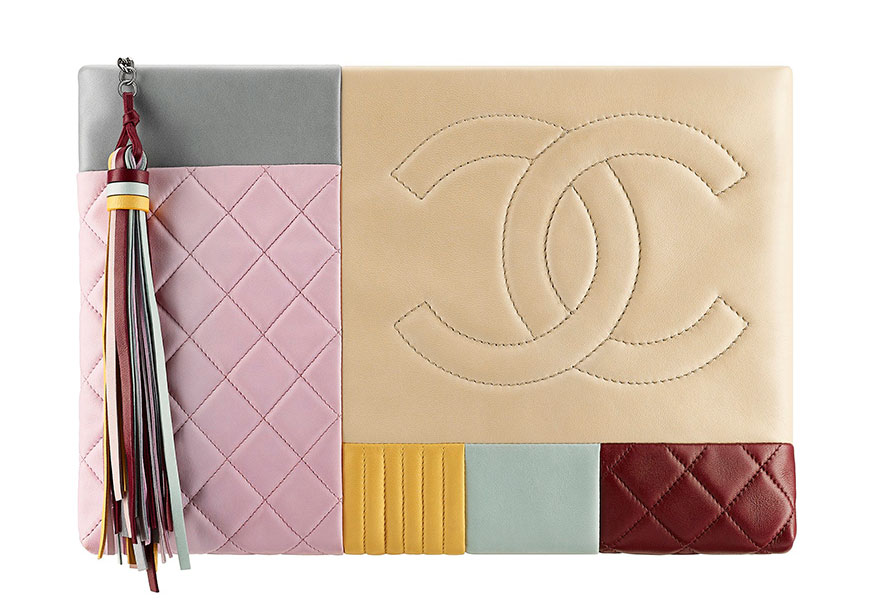 Chanel-Cruise-2016-Patchwork-Zip-Pouch