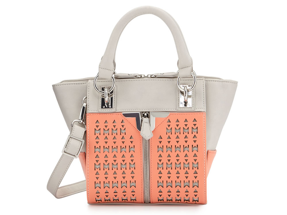 Danielle Nicole Alexa Mini Crossbody Satchel Bag Salmon:Gray