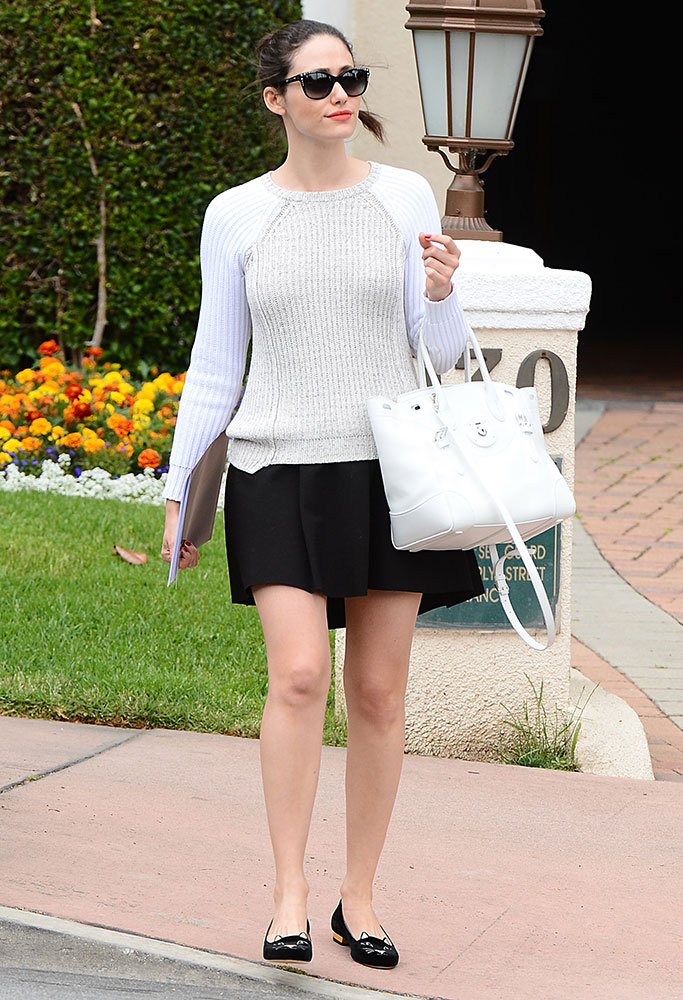 1a67684354 Just Can t Get Enough  Emmy Rossum and Her Ralph Lauren Ricky Bags ...