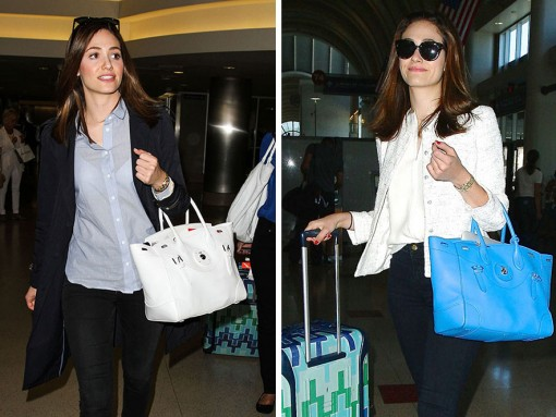 Just Can't Get Enough: Emmy Rossum and Her Ralph Lauren Ricky Bags