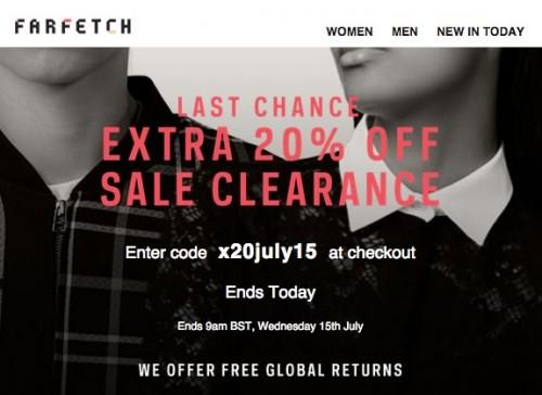 Farfetch 20 Off Sale
