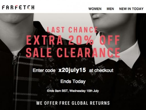 Farfetch 20 Off Sale