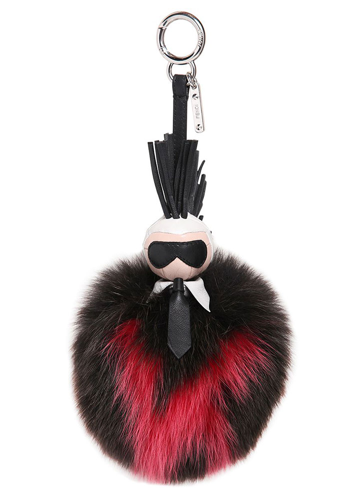 Fendi-Karlito-Fox-Fur-Charm-Black