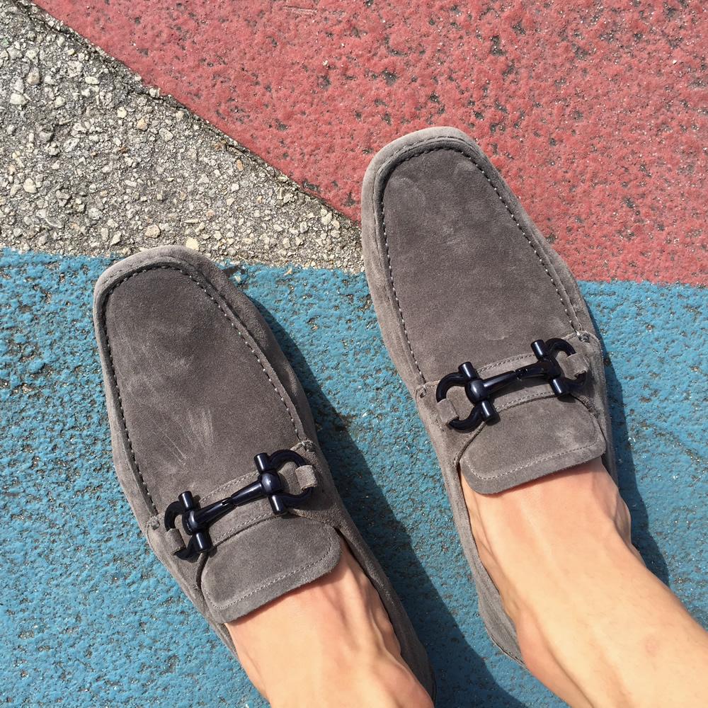 Ferragamo Driver Shoe Grey