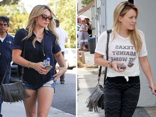 Just Can't Get Enough: Hilary Duff and her Proenza Schouler PS1 Fringed Pouch Crossbody