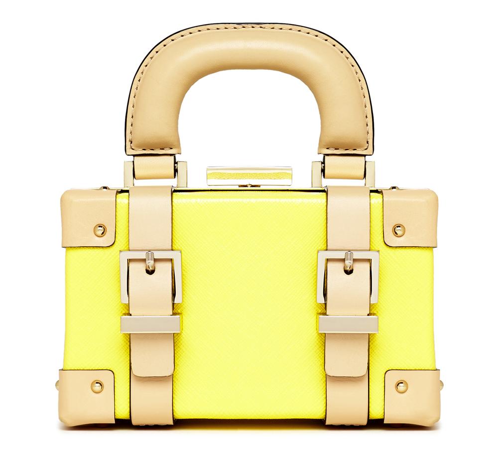 Kate Spade Yellow Mini Luggage Crossbody