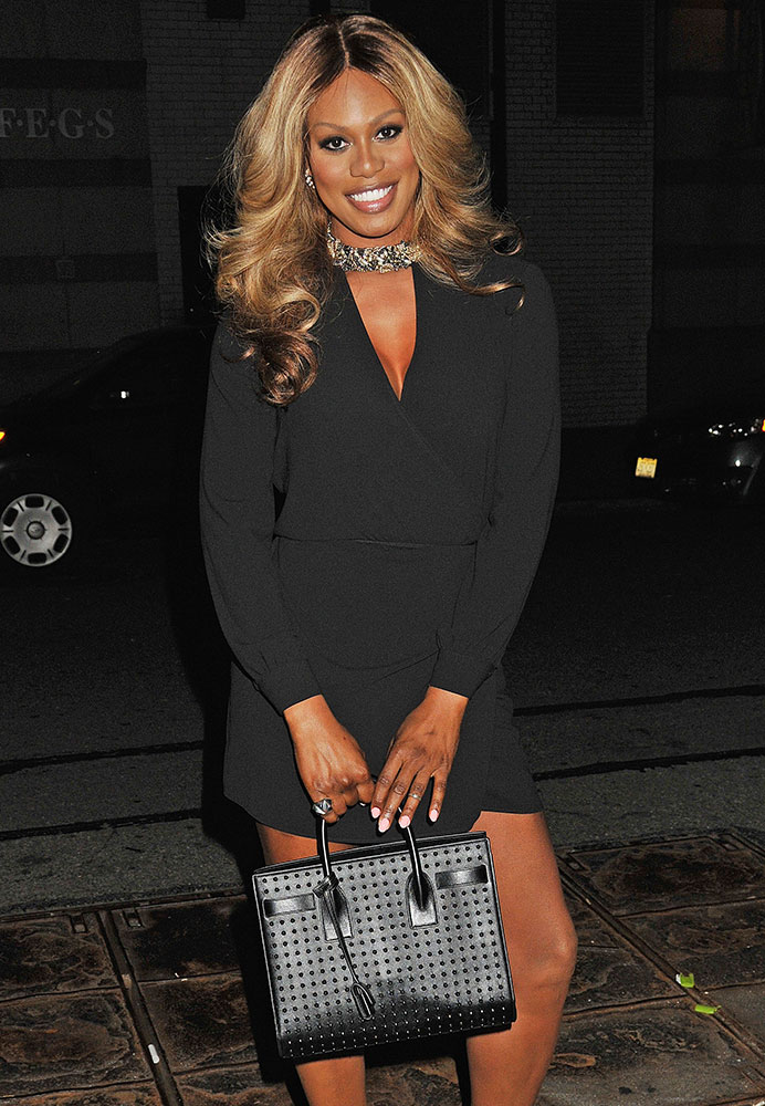 Laverne-Cox-Saint-Laurent-Studded-Sac-de-Jour-Bag