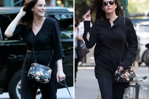 Just Can't Get Enough: Liv Tyler and Her Givenchy Floral Mini Pandora Bag