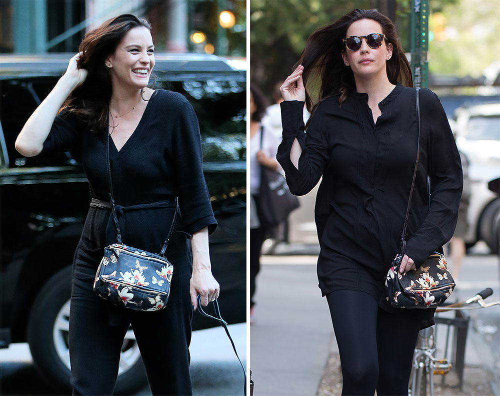 f308d06a27 Just Can t Get Enough  Liv Tyler and Her Givenchy Floral Mini Pandora Bag