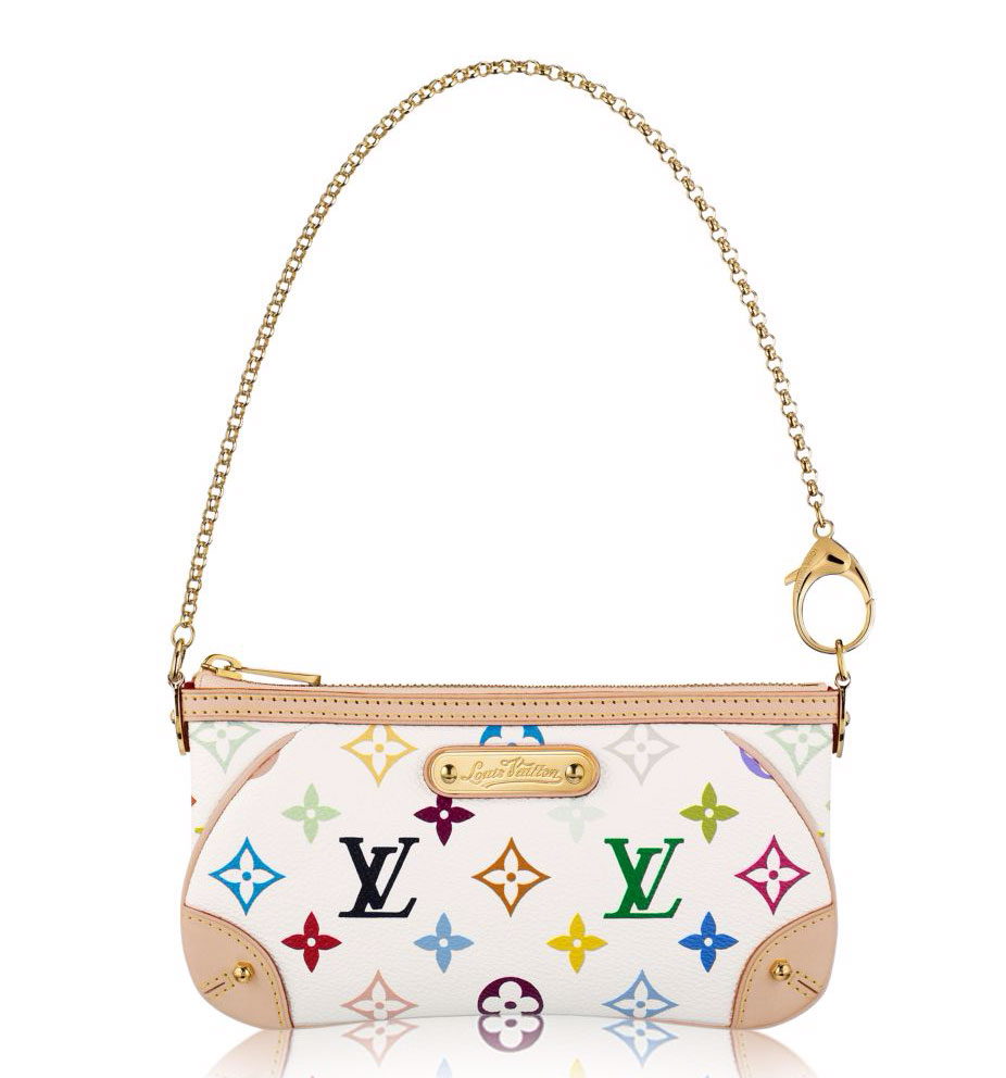 31ecaa75813a Louis Vuitton Monogram Multicolore Milla Clutch MM  605 via Louis Vuitton