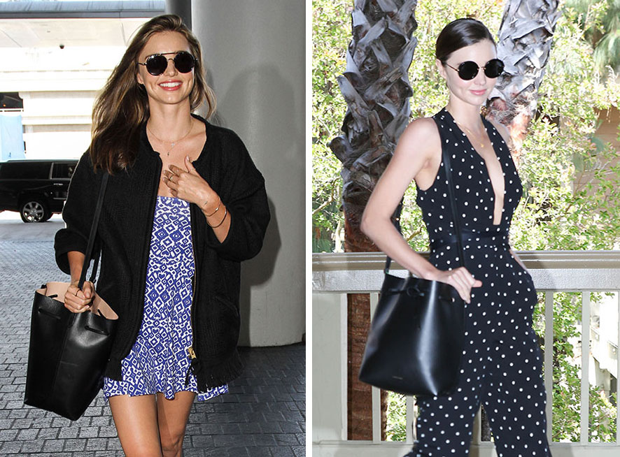 b3b493e00d5d Just Can't Get Enough: Miranda Kerr and Her Mansur Gavriel Bucket Bag