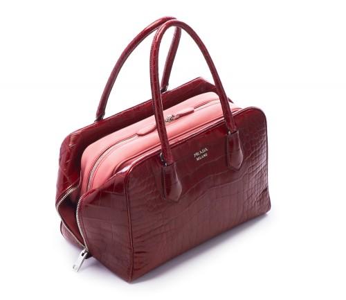 Prada Inside Bag Croco Cherry Tamaris
