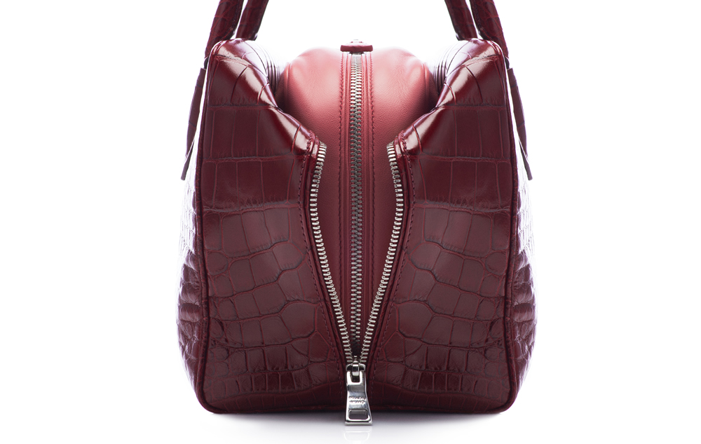 Prada Inside Bag Croco Cherry Tamaris Detail 04