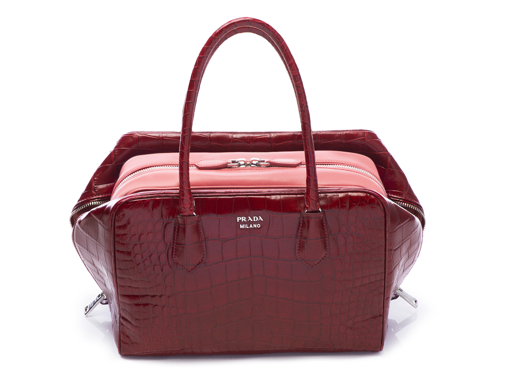 Prada Inside Bag Croco Cherry Tamaris _01