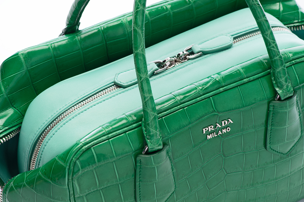 Prada Inside Bag Croco Verde Acquamarina Detail 01