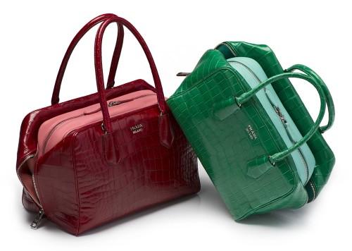 Prada Inside Bag Croco comb