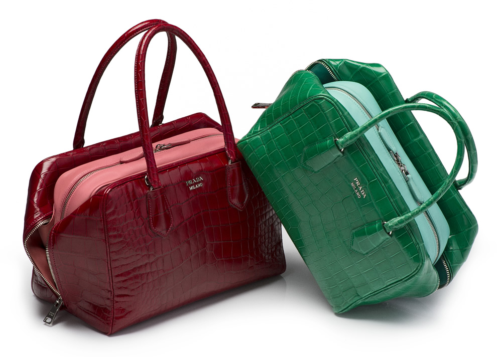 Prada Inside Bag Croco comb