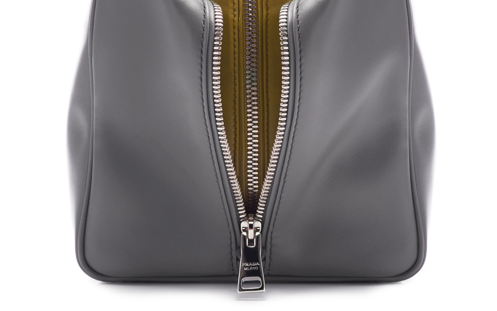 Prada Inside Bag Soft Calf  Marmo Salvia Detail 02