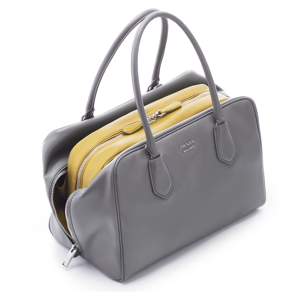 Prada Inside Bag Soft Calf Marmo Salvia