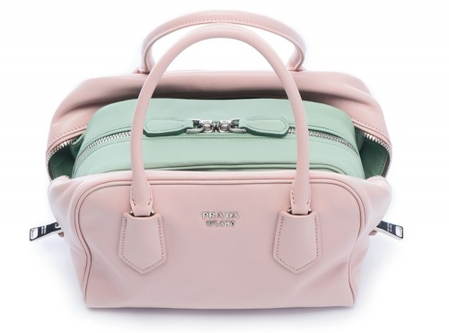 Prada Inside Bag Soft Calf Pesca Acquamarina Detail 01