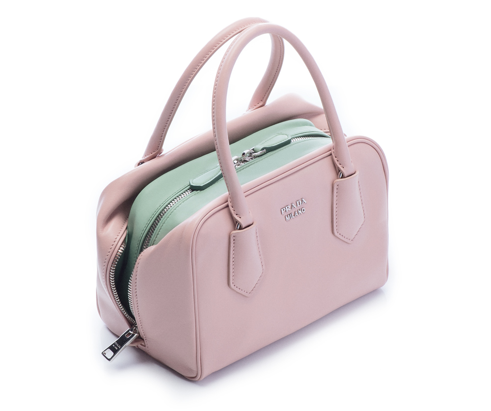 Prada Inside Bag Soft Calf Pesca Acquamarina