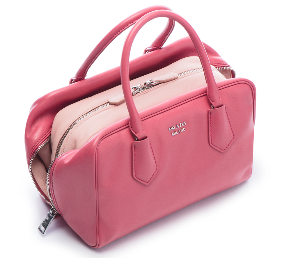 Prada Inside Bag Soft Calf Tamaris Pesca