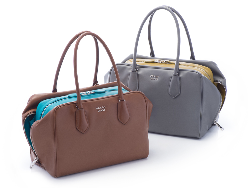 prada hadbags - A Close Look at the New Prada Inside Bag - PurseBlog