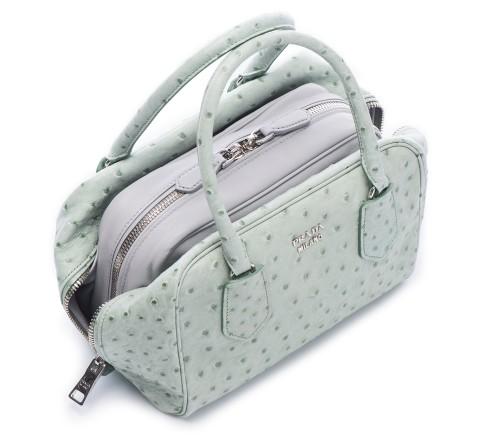Prada Inside Bag Struzzo Acquamarina Granito